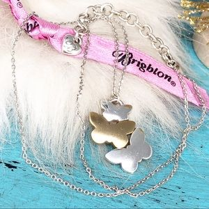 Brighton TwoTone Triple Butterfly Pendant Necklace